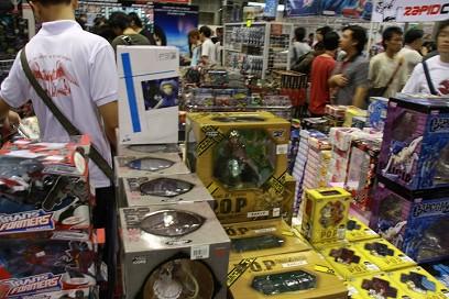 PVC vendors selling their merchandise